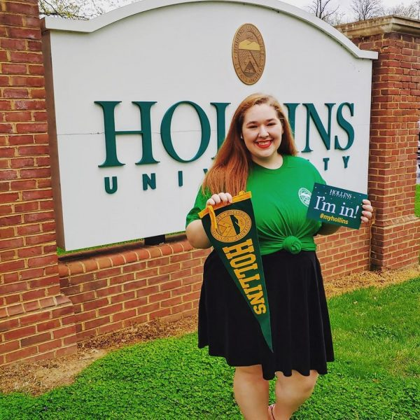 Student admitted to Hollins