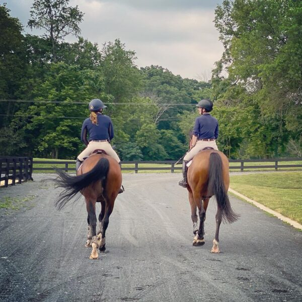 Two riders at park