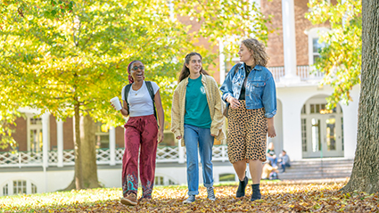 Students walking on Front Quad