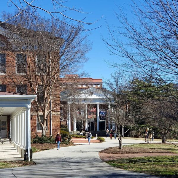 Spring day on campus