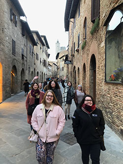Students in San Gimignano